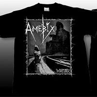Amebix- Winter (Version 1) on front, Face on back on a black YOUTH sized shirt