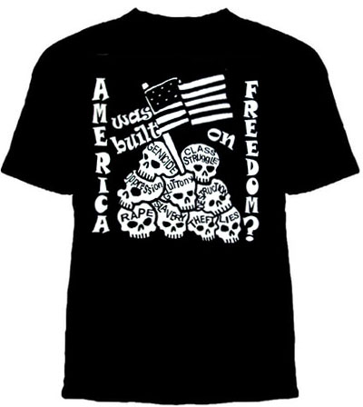 America Was Built On Freedom? on a black shirt