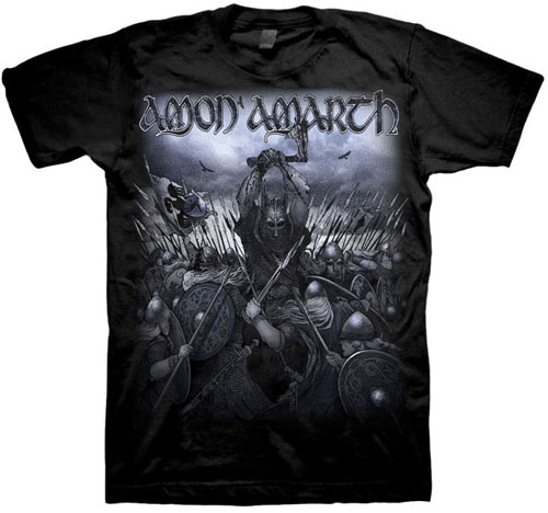 Amon Amarth- Wolford on a black shirt