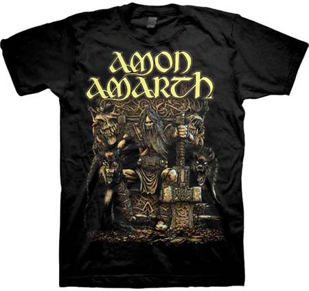 Amon Amarth- Oden's Son on a black shirt