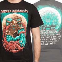 Amon Amarth- Spartan on front, Lyrics on back on a black shirt