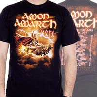Amon Amarth- Thor on front, Tour Dates on back on a black shirt