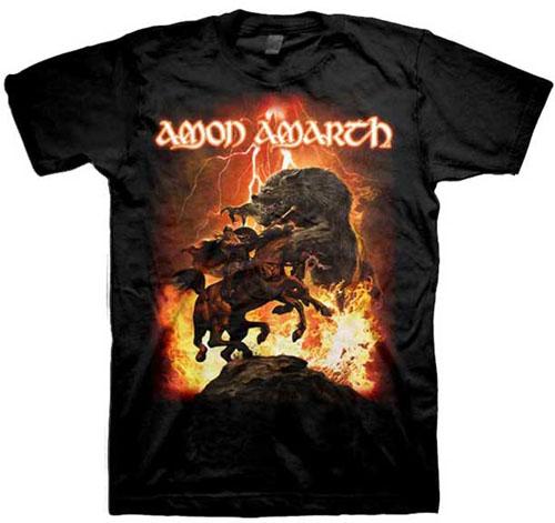 Amon Amarth- Fenriz on a black shirt