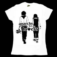 Anarchy Is For Lovers on a white girls fitted shirt