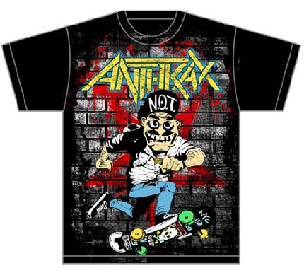 Anthrax- Skater on a black shirt