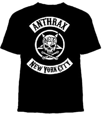 Anthrax- NYC Biker Crest on a black shirt (Sale price!)