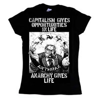 Anthrax- Anarchy Gives Life on a black girls fitted shirt