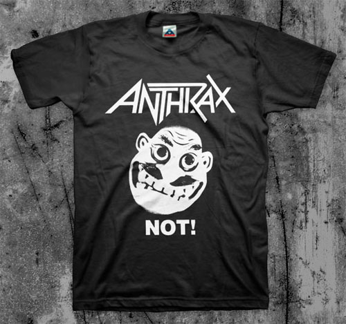 Anthrax- Not Man on a black shirt (Sale price!)