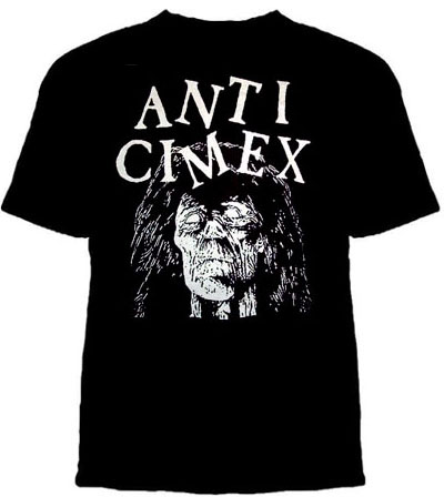Anti Cimex- Corpse Head on a black girls fitted shirt (Sale price!)