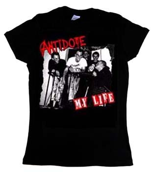 Antidote- My Life on a black girls fitted shirt (Sale price!)