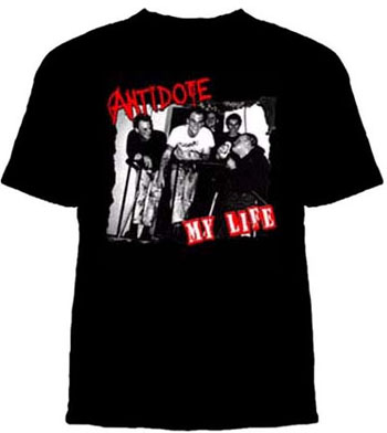 Antidote- My Life on a black YOUTH SIZED shirt (Sale price!)