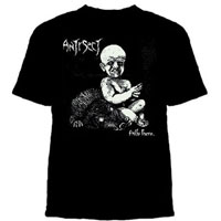 Antisect- Hallo There on a black YOUTH sized shirt