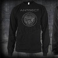 Antisect- Live By Your Standards on front, Grain Symbol on back on a black LONG SLEEVE shirt