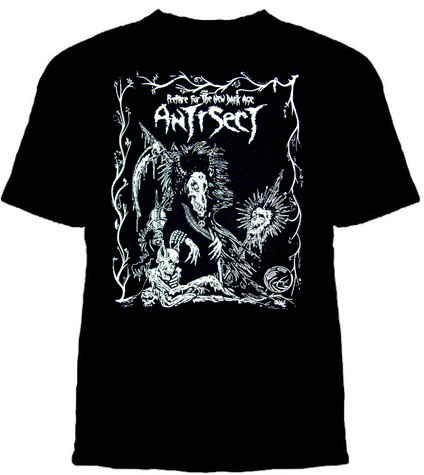 Antisect- Prepare For The New Dark Age on a black YOUTH SIZED shirt (Sale price!)