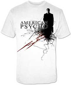 American Psycho- Patrick Bateman on a white shirt (Sale price!)