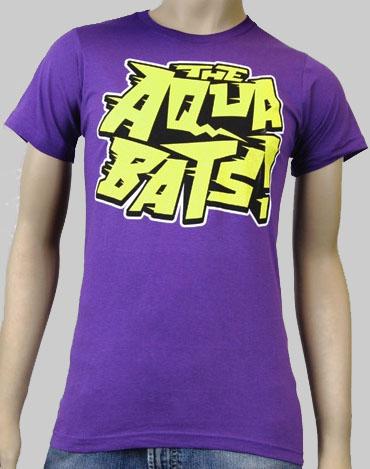 Aquabats- Yellow Logo on a purple shirt
