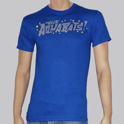 Aquabats- Stars Logo on a blue shirt