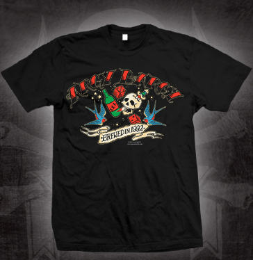 Argy Bargy- Brewed In 1992 on a black shirt (Sale price!)