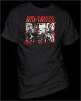 Army Of Darkness- Ash Collage on a black shirt (Sale price!)