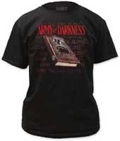Army Of Darkness- Necronomicon on a black shirt (Sale price!)