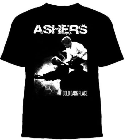 Ashers- Cold Dark Place on a black shirt (Sale price!)