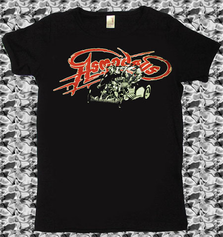 Asmodeus- Demon Car on a black girls fitted shirt (Sale price!)