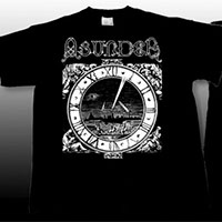 Asunder- Clock on front, Eye on back on a black YOUTH sized shirt