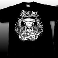 Asunder- Works Will Come Undone on front, Bird on back on a black YOUTH sized shirt