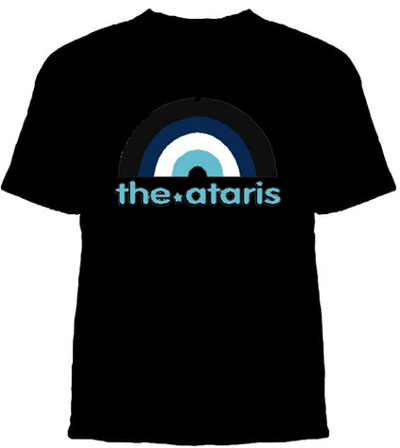 Ataris- Rainbow on a black YOUTH SIZED shirt (Sale price!)