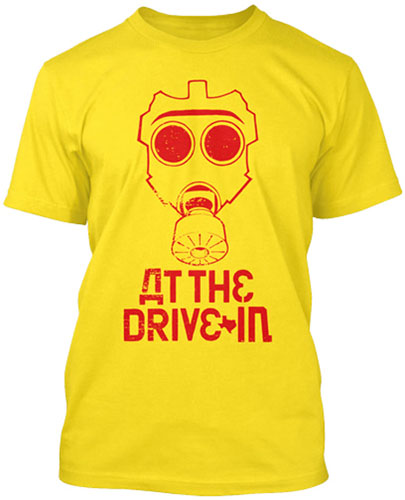 At The Drive In- Gas Mask on a yellow shirt (Sale price!)