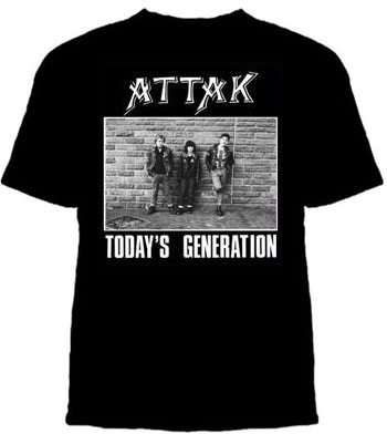 Attak- Today's Generation on a black YOUTH sized shirt