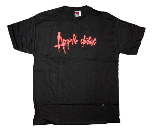 Angelic Upstarts- Red Logo on a black shirt (Sale price!)
