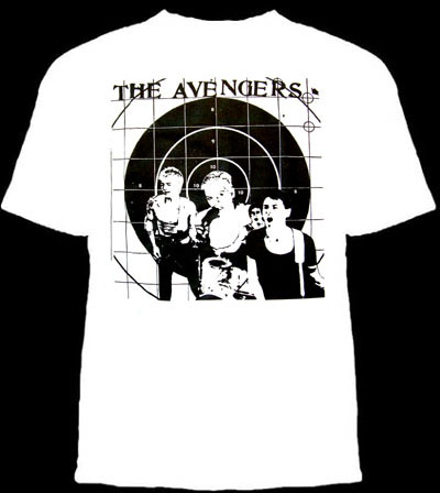 Avengers- Band Pic on a white YOUTH SIZED shirt (Sale price!)