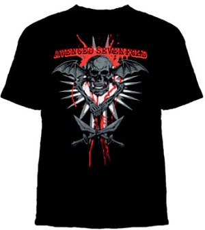 Avenged Sevenfold- Skull & Sabers on a black shirt (Sale price!)