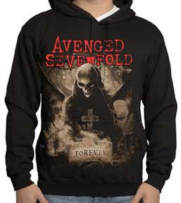 Avenged Sevenfold- Forever on a black hooded sweatshirt (Sale price!)