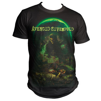 Avenged Sevenfold- Killing Moon on a black shirt