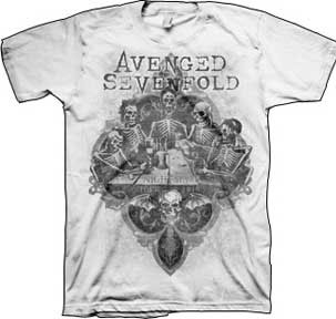 Avenged Sevenfold- Bottoms Up on a white shirt (Sale price!)