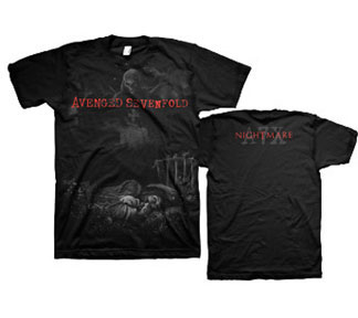 Avenged Sevenfold- Sweet Scream on front, Nightmares on back on a black shirt (Sale price!)