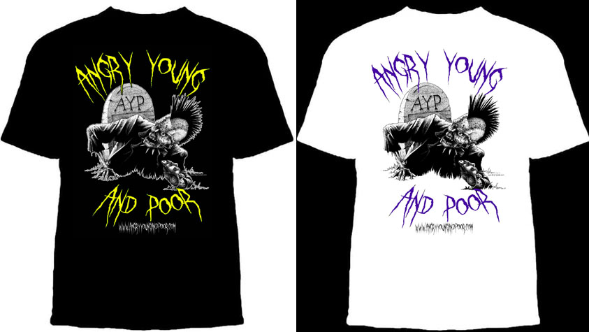 Angry Young And Poor- Zombie With Mouse shirt