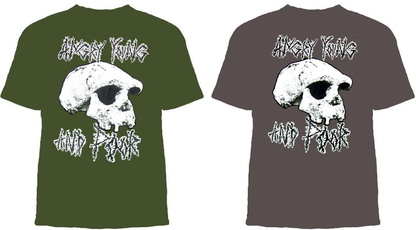 Angry Young And Poor- Skull on a colored shirt
