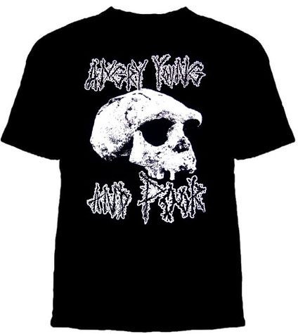 Angry Young And Poor- Skull on a black shirt