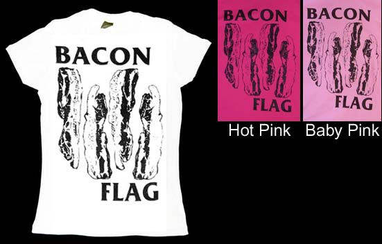 Bacon Flag on a girls shirt