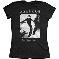 Bauhaus- Bela Lugosi's Dead on a black fitted girls shirt