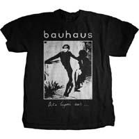 Bauhaus- Bela Lugosi's Dead on a black ringspun cotton shirt