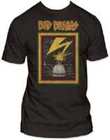 Bad Brains- Distressed Lightning on a charcoal ringspun cotton shirt