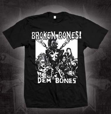 Broken Bones- Dem Bones on a black shirt (Sale price!)