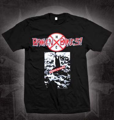 Broken Bones- Trader In Death on a black shirt (Sale price!)