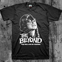 Beyond- You Will Live In Terror on a black shirt