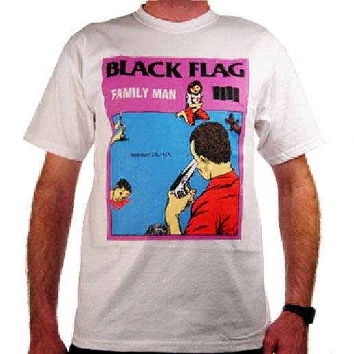 Black Flag- Family Man on a white shirt