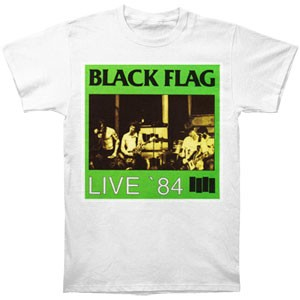 Black Flag- Live '84 on a white shirt